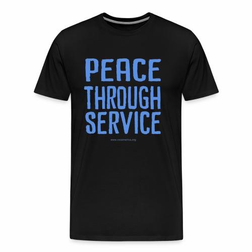 Peace Thru Service - Men's Premium T-Shirt