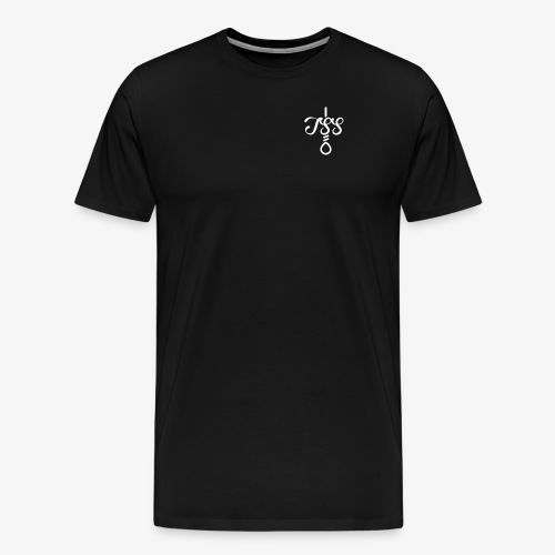 T S S + Noose Logo - (White) - Men's Premium T-Shirt
