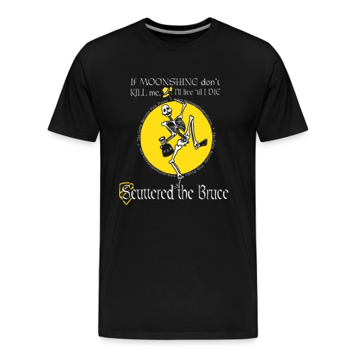 moonshinewhiteborderedfontmediumrecolorw - Men's Premium T-Shirt