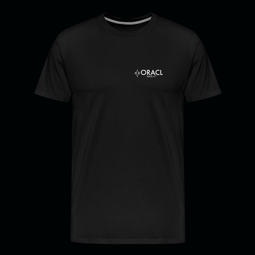 ORACL LOGO WHITE - Men's Premium T-Shirt