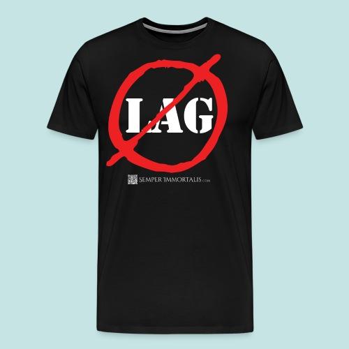 No Lag (white) - Men's Premium T-Shirt