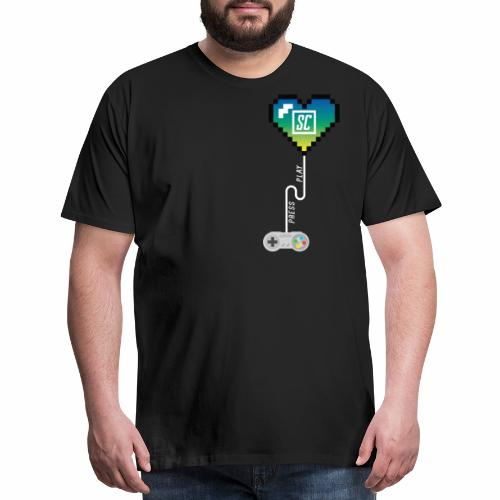 Supercombo Press Play Tshirt Green Heart - Men's Premium T-Shirt