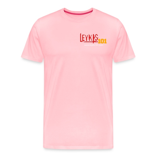 Leykis 101 Full Color with Domain - Men's Premium T-Shirt