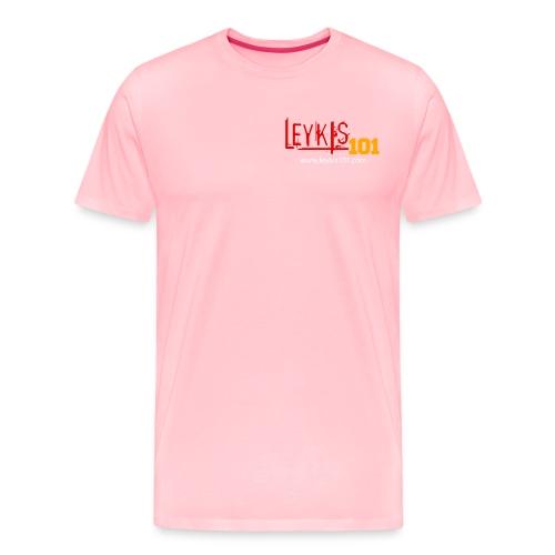 Leykis 101 Full Color with Domain - Men's Premium T-Shirt