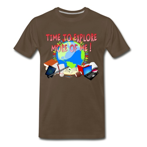 Time to Explore More of Me ! BACK TO SCHOOL - Men's Premium T-Shirt