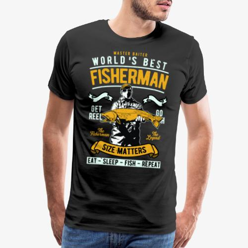 Funny Fisherman Fishing Buddy Vintage - Men's Premium T-Shirt
