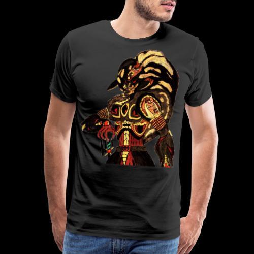 Prince of Bitches, Beastmaster Mun-Da Portrait - Men's Premium T-Shirt