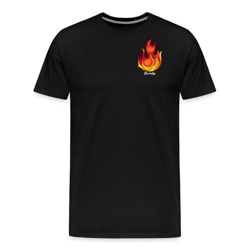 Scorchy White Logo - Men's Premium T-Shirt