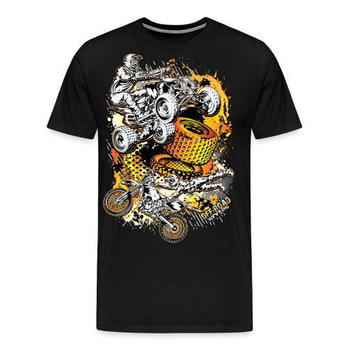 FMX Freestyle Abstract - Men's Premium T-Shirt