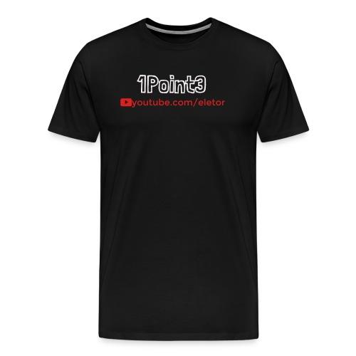 1Point3 logo 1 png - Men's Premium T-Shirt