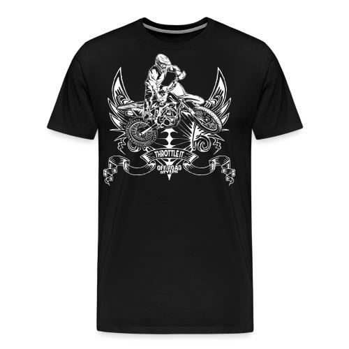 Moto Full Throttle White - Men's Premium T-Shirt