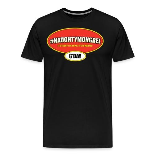 mongrel vegiemite - Men's Premium T-Shirt