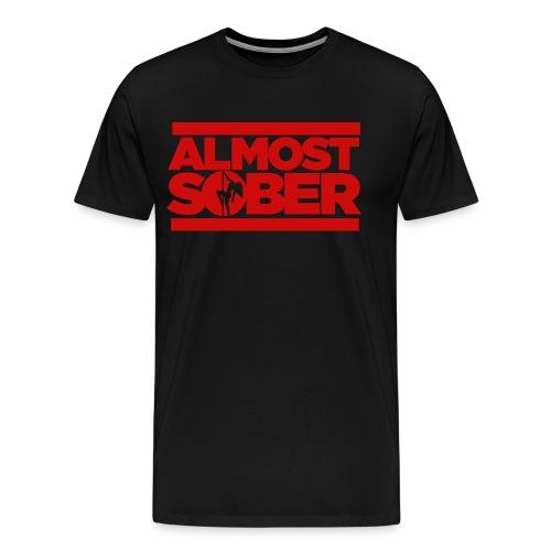 ALMOST SOBER stripper pole png - Men's Premium T-Shirt