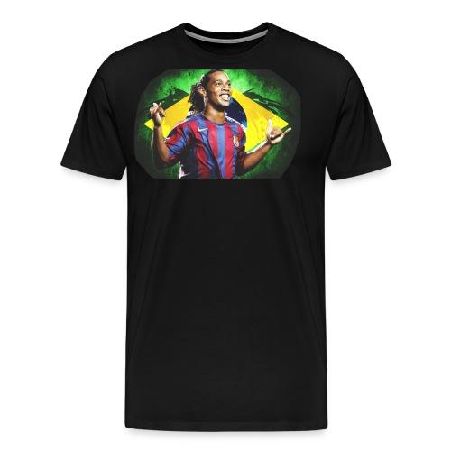 Ronaldinho Brazil/Barca print - Men's Premium T-Shirt