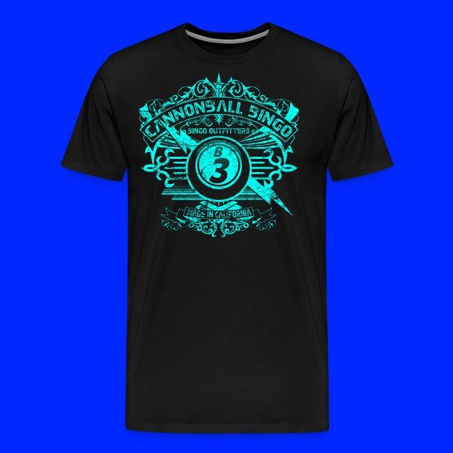 Vintage Cannonball Bingo Crest Bright Blue