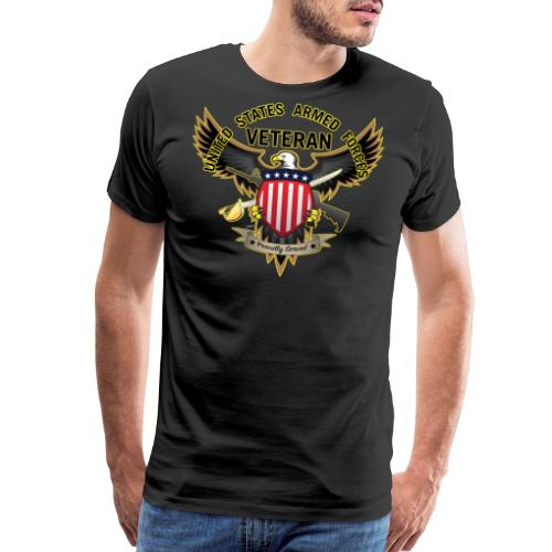 United States Armed Forces Veteran, Proudly Served - Men's Premium T-Shirt