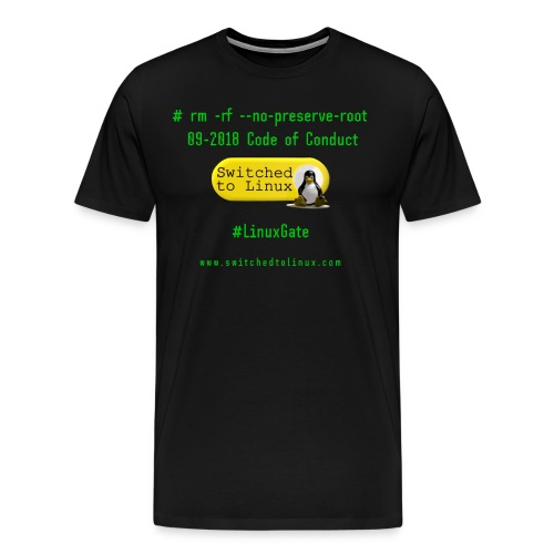 rm Linux Code of Conduct - Men's Premium T-Shirt