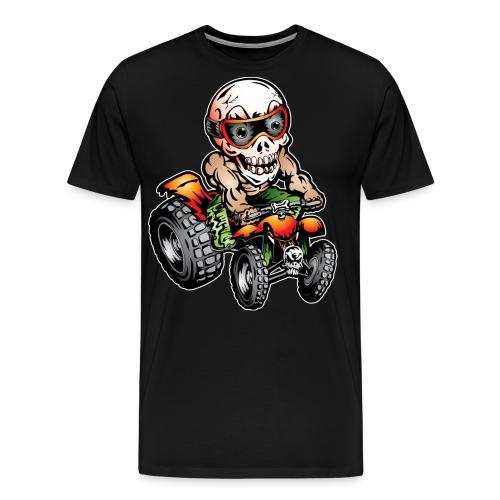 Off-Road ATV Skull Rider - Men's Premium T-Shirt