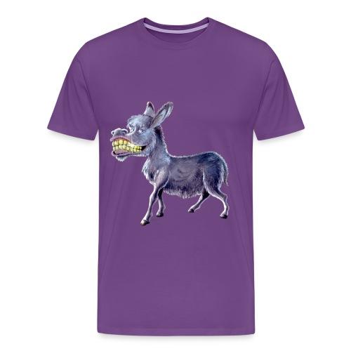 Funny Keep Smiling Donkey - Men's Premium T-Shirt