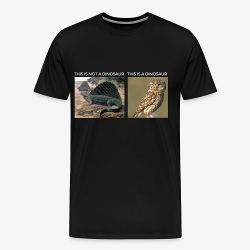 This is not a dinosaur (dark background) - Men's Premium T-Shirt