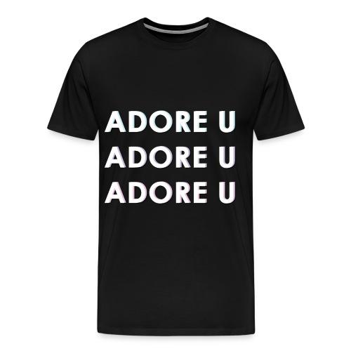 adore u typography png - Men's Premium T-Shirt