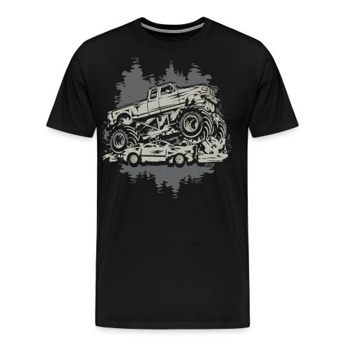 Monster Truck Grunge - Men's Premium T-Shirt
