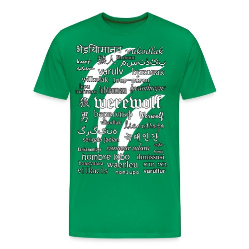 Werewolf in 33 Languages (Black Version) - Men's Premium T-Shirt