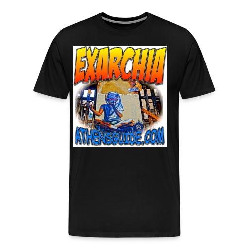 EXARCHIA WHITE jpg - Men's Premium T-Shirt