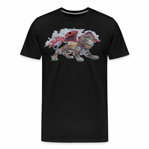 Lion cut 2000pxl gif - Men's Premium T-Shirt