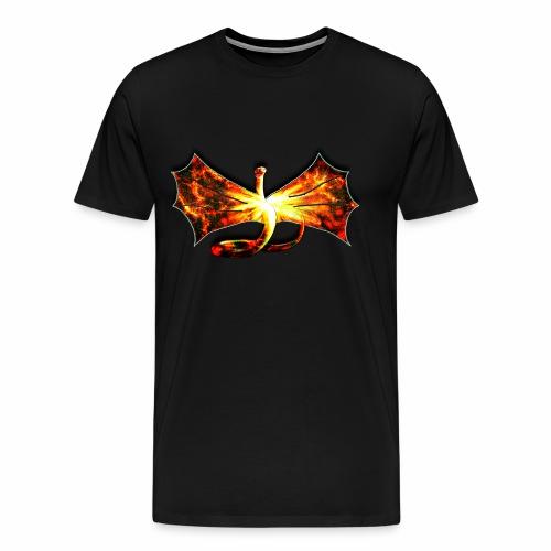 Flaming winged Serpent - Men's Premium T-Shirt