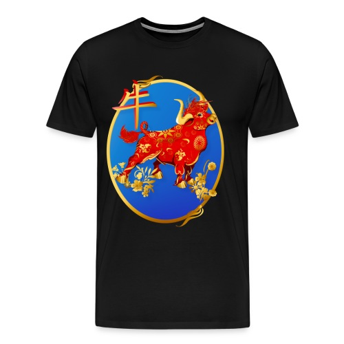 Year Of The Ox Oval - Men's Premium T-Shirt