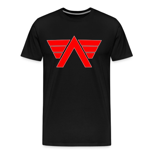 White shirt Red AeRo Logo - Men's Premium T-Shirt