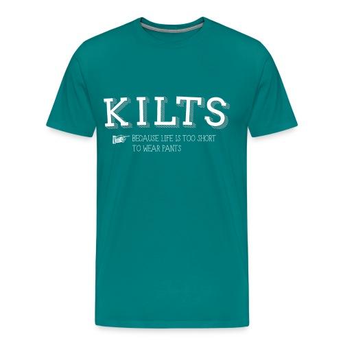 kilts white - Men's Premium T-Shirt