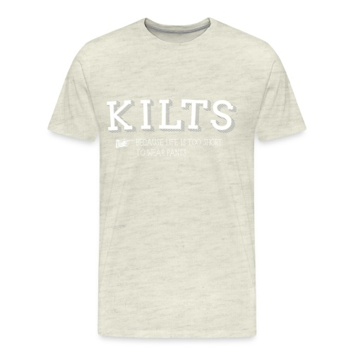 kilts white - Men's Premium T-Shirt