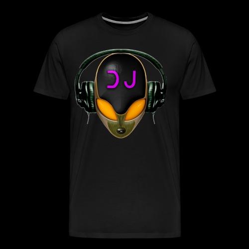Alien DJ - Orange - Hard Shell Bug - Men's Premium T-Shirt