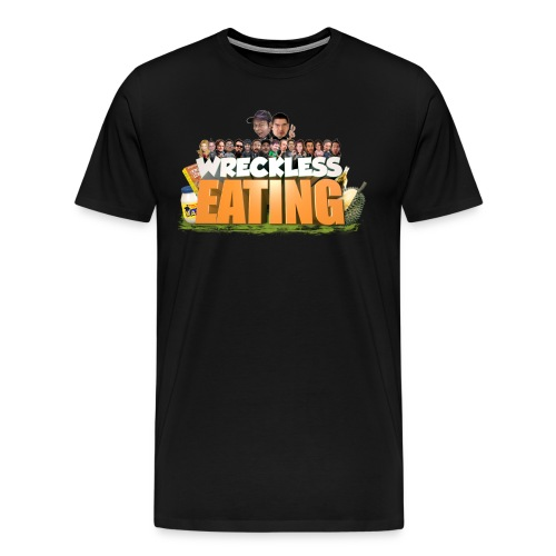 Wreckless Eating Cast Shirt 2015 png - Men's Premium T-Shirt