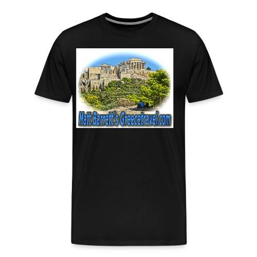 Greecetravel Acropolis Blue jpg - Men's Premium T-Shirt