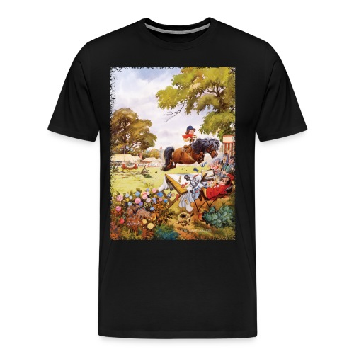 PonyTournament Thelwell Cartoon - Men's Premium T-Shirt