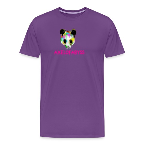 Axelofabyss panda panda paint - Men's Premium T-Shirt