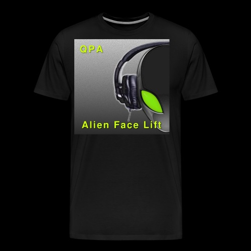 Alien Face Lift Digital Artwork - Men's Premium T-Shirt
