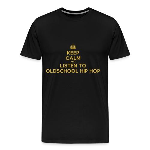 Listen to Oldschool Hip Hop - Men's Premium T-Shirt