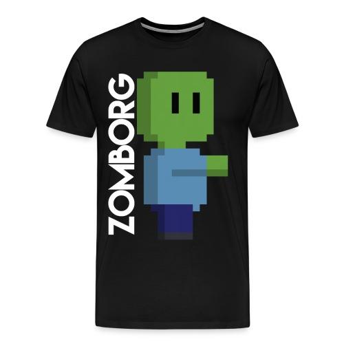 Minecraft Zombie Pixel art Mug - Men's Premium T-Shirt