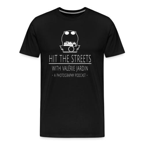 HIT-THE-STREETS-LOGO-WHIT - Men's Premium T-Shirt
