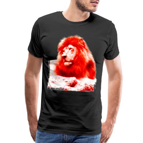 Lion Cutout Red - Men's Premium T-Shirt