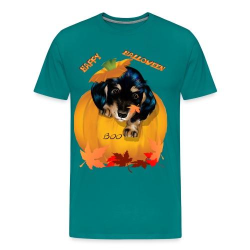 Halloween Dashund Puppy-Boo - Men's Premium T-Shirt