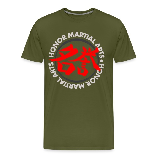 Honor Martial Arts Kanji Design Light Shirts - Men's Premium T-Shirt