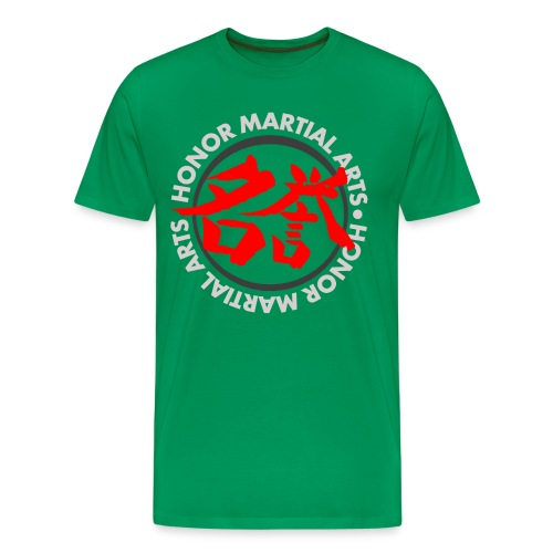 Honor Martial Arts Kanji Design Light Shirts - Men's Premium T-Shirt