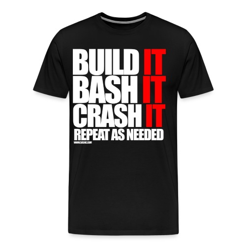 Build It Bash It png - Men's Premium T-Shirt