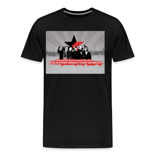 freedom without socialism - Men's Premium T-Shirt