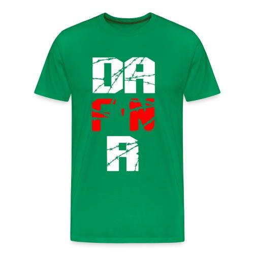 D A EFFIN R Barbwire png - Men's Premium T-Shirt